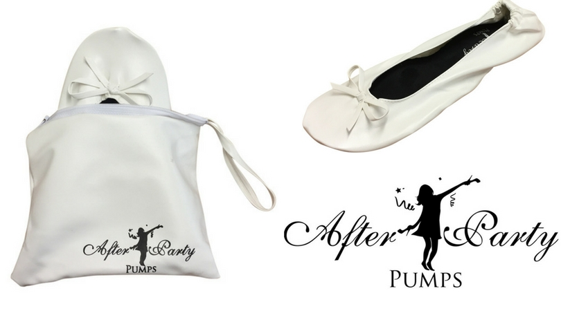 Wedding White Flat Shoes in a Bag - After Party Pumps